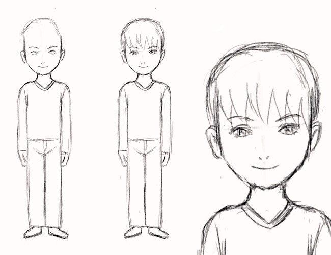 Як намалювати хлопчика, крок 5
