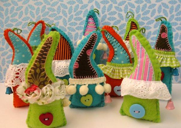 Новогодние игрушки из фетра, фото 13