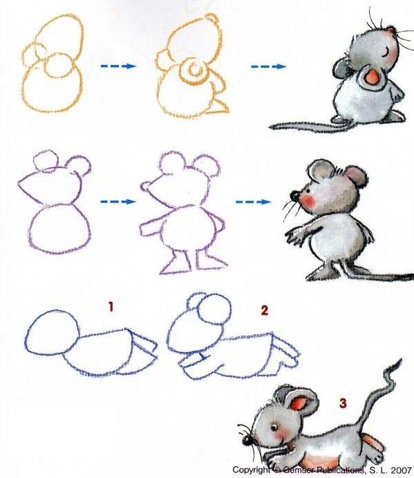 Как нарисовать мышку поэтапно, фото 32