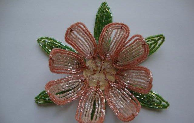 Лилии из бисера, схемы плетения - фото 8