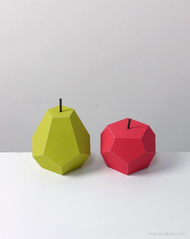 Об'ємні вироби з паперу. Схеми фруктів для об'ємної аплікації, фото 11