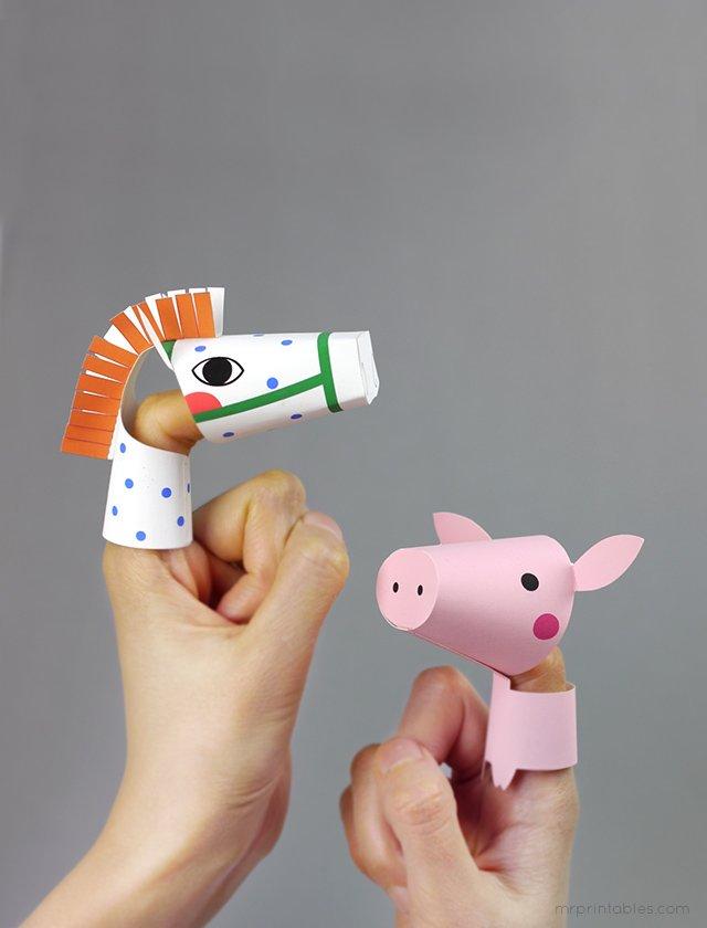 Как сделать пальчиковый театр из бумаги, фото 7