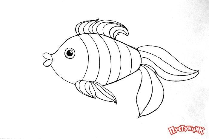 Зентангл тварини - рибка, фото 3