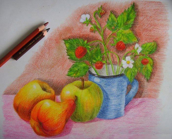 Как нарисовать натюрморт карандашом поэтапно, фото 14
