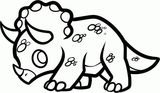 Как нарисовать динозавра Трицератопса шаг 6
