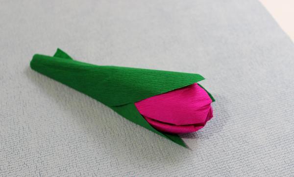 Как сделать тюльпаны из гофрированной бумаги – схема, фото 20