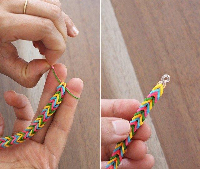 Плетение резинками без станка, инструкция - фото 9