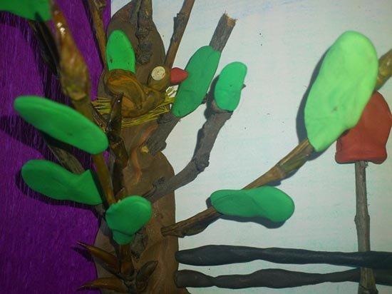 Ліплення з пластиліну в дитячому садку - парканчик, фото 11