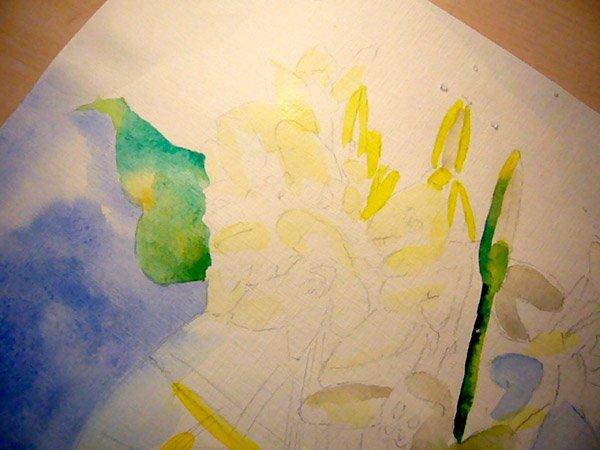 Як малювати підсніжники крок 4