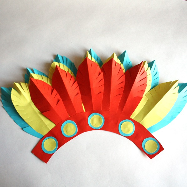 Головной убор индейца своими руками