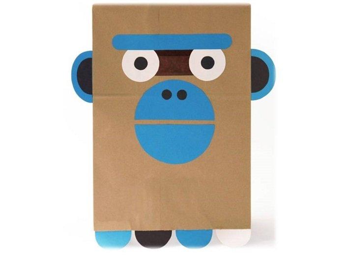 Маска мавпи з паперу своїми руками, фото 18