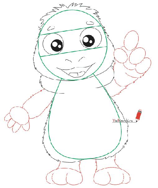 Как нарисовать Лунтика, схема 3 - фото 4