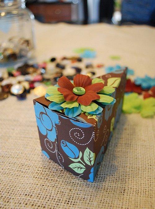 Подарочная коробка своими руками в виде торта 47