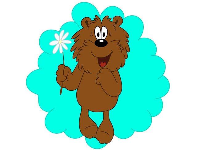 Рисуем мишку из мультфильма «Трям! Здравствуйте!» шаг 5
