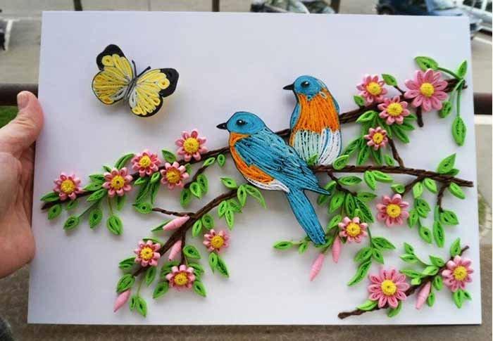 Красивые поделки из квиллинга для детей - фото 1