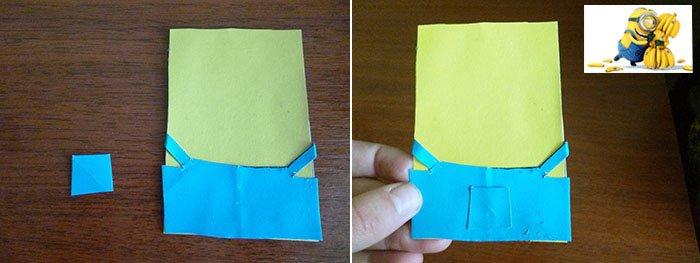 Як зробити міньйона своїми руками з паперу, фото 4