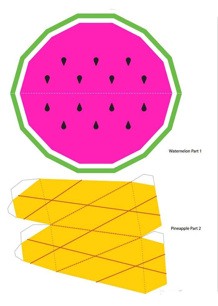 Объемные поделки из бумаги. Шаблоны фруктов для объемной аппликации, фото 3