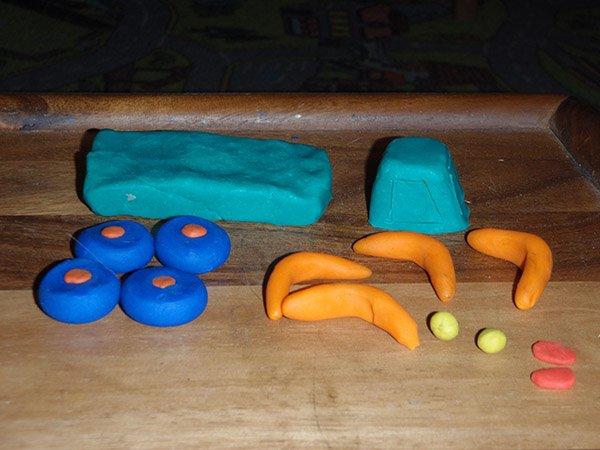 Фігурки з пластиліну - авто, фото 1