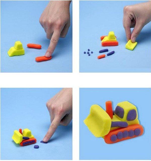 Фігурки з пластиліну - екскаватор, фото 1