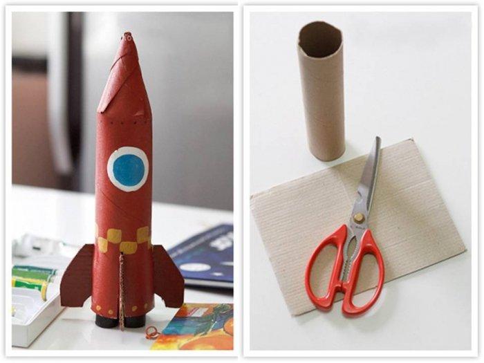 Ракета из картона своими руками - фото 1