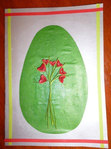 Простая пасхальная открытка своими руками – мастер-класс, фото 10