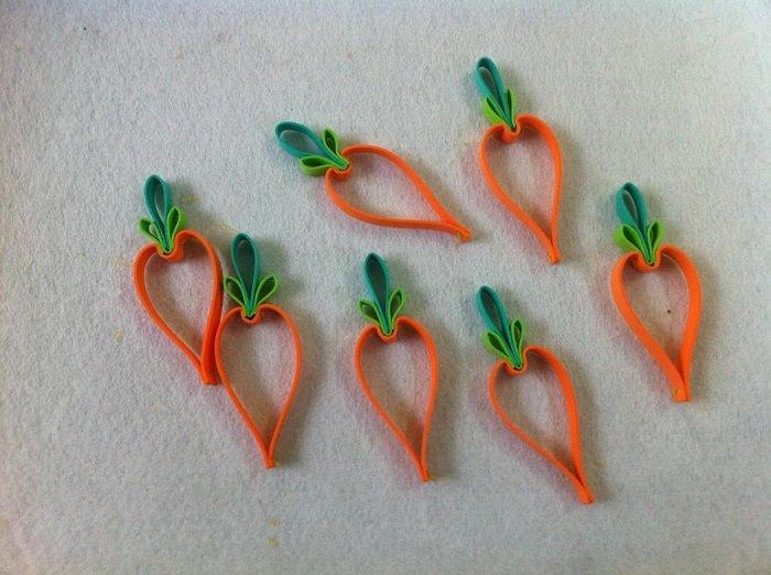 Гирлянда из фетровых морковок шаг 6