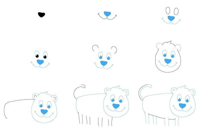 Как нарисовать тигренка поэтапно, фото 9