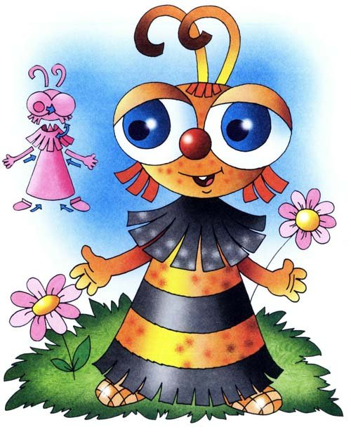 Вироби з кольорового паперу для дітей. Схема 11 - бджілка. Інструкція