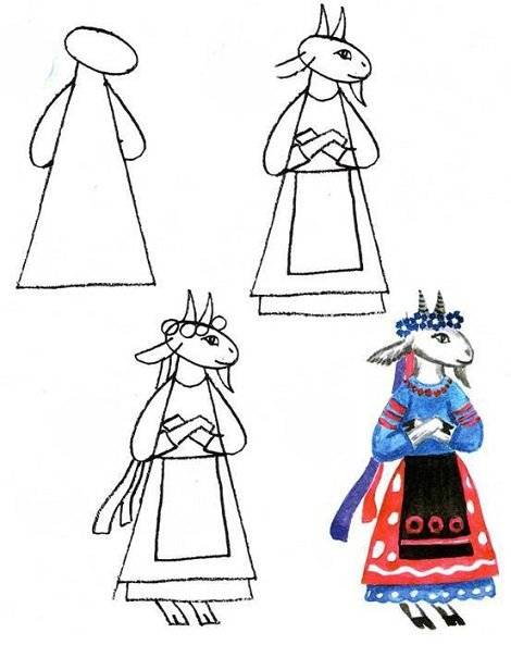 Як малювати козу