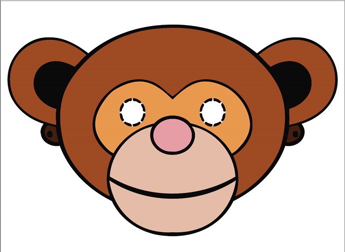 Маска обезьяны своими руками распечатать