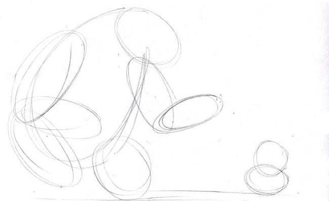 """Малюємо ведмедика з мультфільму """"Маша і Ведмідь"""" крок 1"""