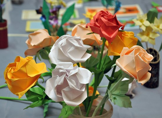 Розы из бумаги - фото 1