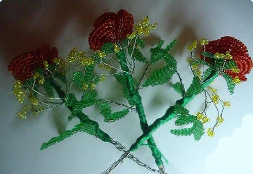 Розы из бисера, схемы. Мастер-класс, фото 12