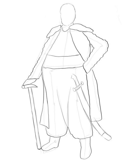 Як малювати козака крок за кроком - етап 3