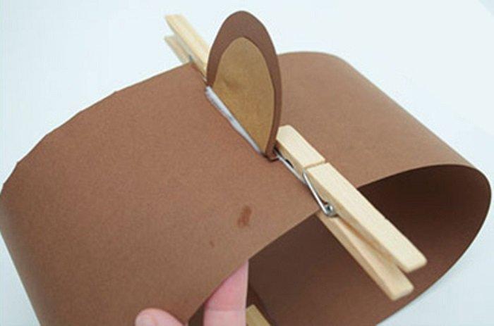 Маска обезьяны из бумаги своими руками, фото 8