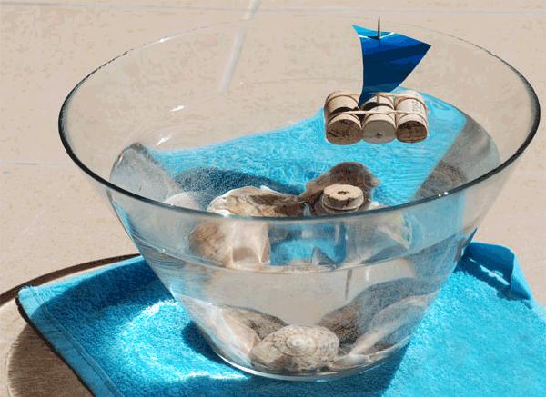 Летние поделки с детьми своими руками - кораблики из винных пробок, фото 3