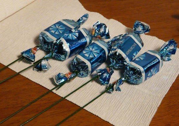 Букет з цукерок своїми руками фото 3