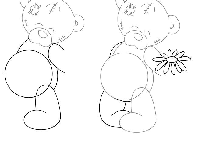 Як намалювати ведмедика Тедді, схема 2, крок 2