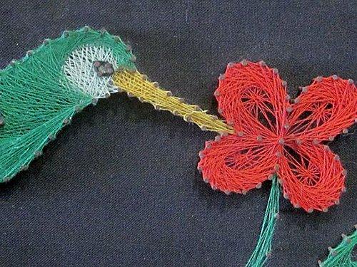 Панно картини з цвяхів і ниток. Схема 11