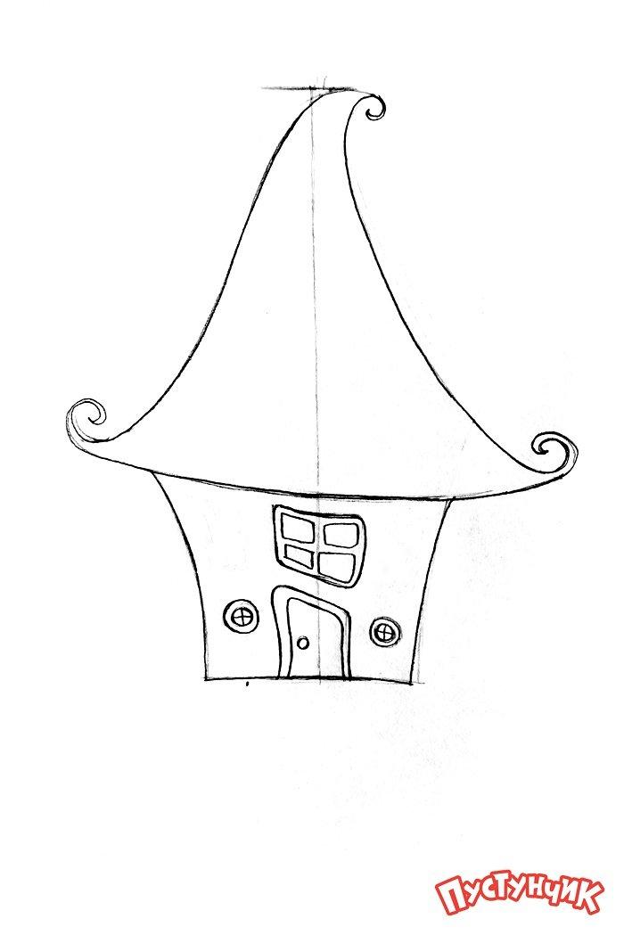 Як намалювати казковий будинок - фото 3