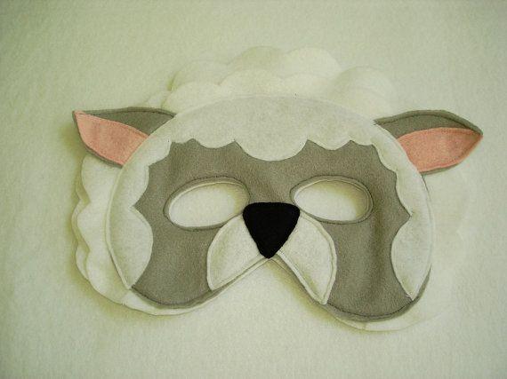 Маскарадные маски овечки из фетра своими руками, фото 6