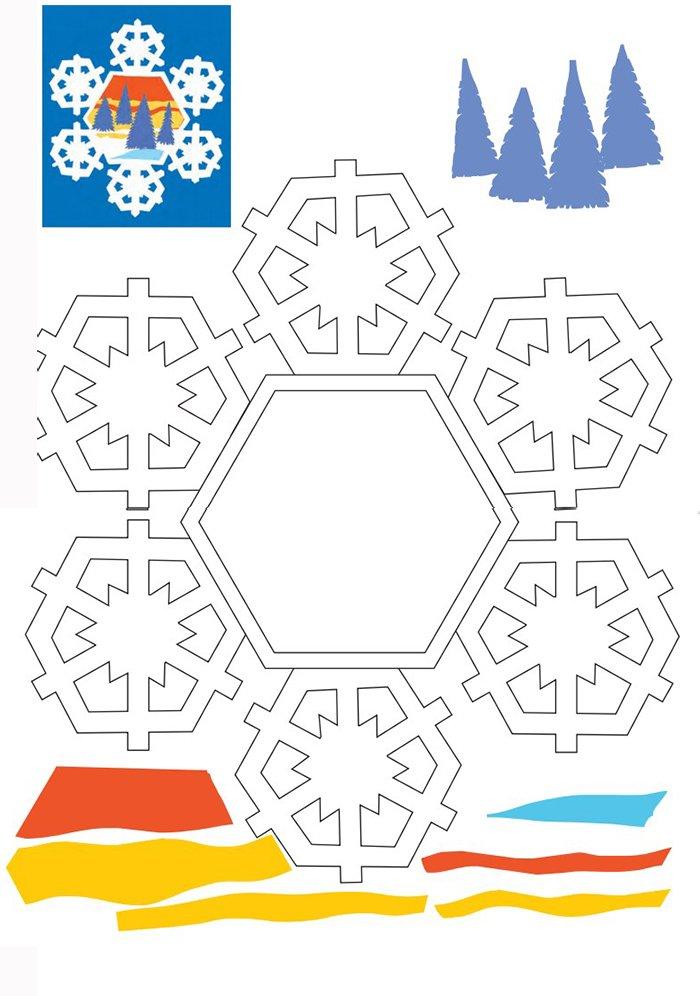 Новорічні витинанки - шаблони витинанок для дітей, фото 8