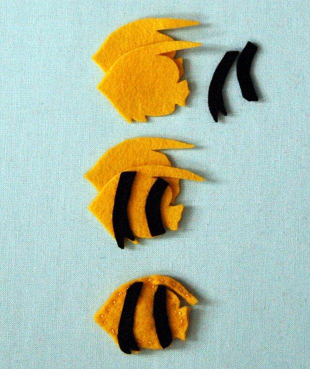 Дитячі поробки з фетру своїми руками - рибки з фетру, фото 5