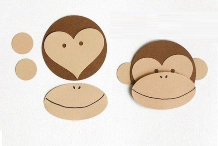 Как сделать из картона обезьяну