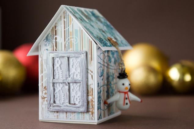 Новогодний домик из бумаги