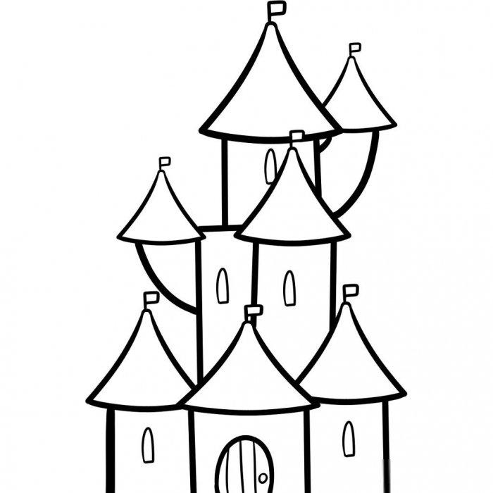 Як намалювати замок