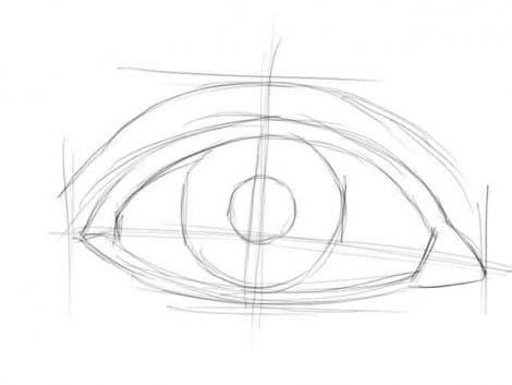 рисуем глаза этап 1