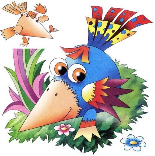 Вироби з кольорового паперу для дітей. Схема 12 - ворона. Інструкція