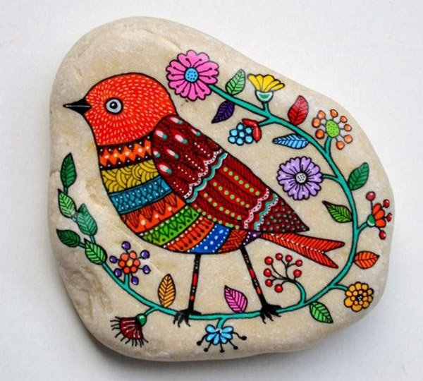 Летние поделки с детьми своими руками - раскрашенные камушки, фото 2