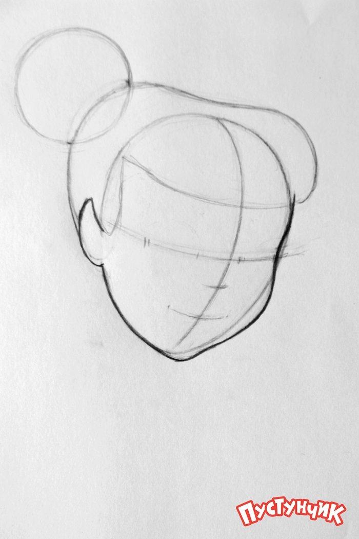 Як намалювати фею Дінь-Дінь поетапно - фото 3